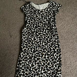 Leopard h&m fitted maternity dress